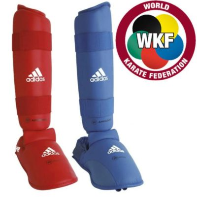 Adidas karate shinguards - Red and Blue