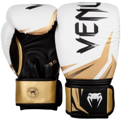 Challenger 3.0 Boxing Gloves - White/Black/Gold