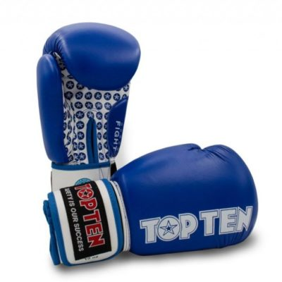 Top Ten 10oz Fight Boxing Gloves Blue